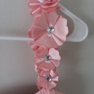Sequin Hearts Dresses - EUC Sequin Heart Pink Chiffon Flower 1 Strap Dress